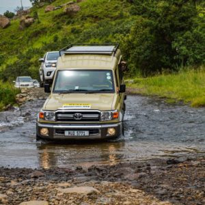 From Durban we take the 4x4 drive up the Sani Pass